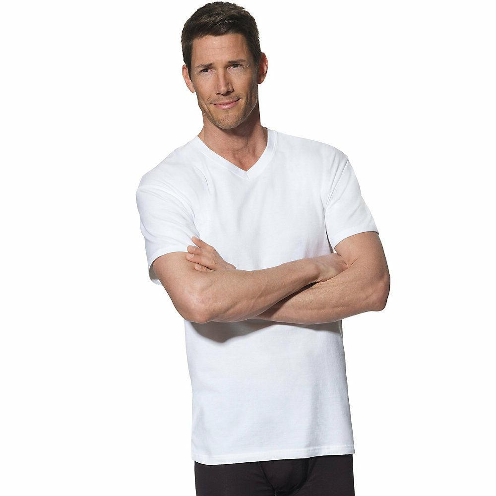 Hanes Men's V-Neck LT-3XLT 4-Pack