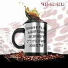 HOT & Cold  Double Insulated Self Stirring Funny Joke Mug El