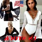 Hot Womens V Neck Bodycon Sexy Clubwear Jumpsuit Shorts Romp