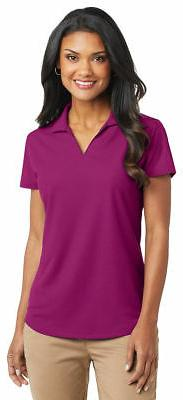 Port Authority Ladies Polyester Short Sleeve V Neck Golf Pol
