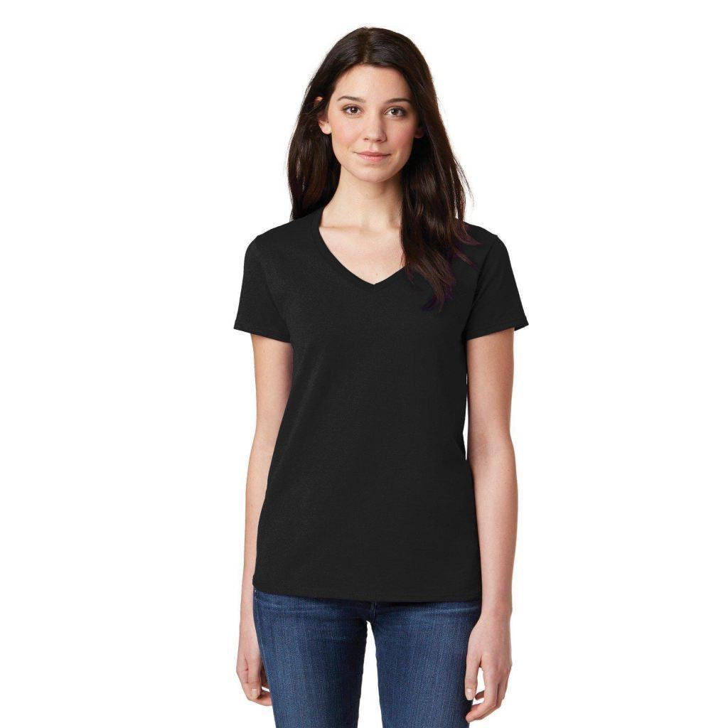 Gildan Ladies V-Neck Tee Basic Short T-Shirt