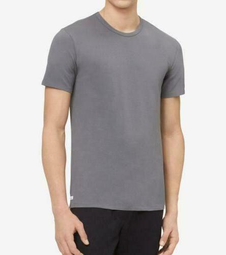 Calvin Klein Men's Cotton Stretch Crew Neck Undershirt 2-Pac