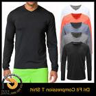 Men's Moisture Wicking Dry-Fit T Shirts Long Sleeve V Neck R