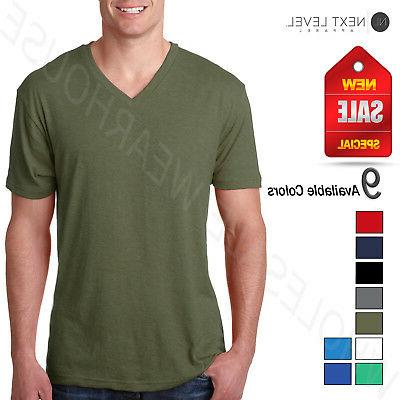 Next Level Men's Preimuim Fit Triblend V-Neck S-XL T-Shirt R