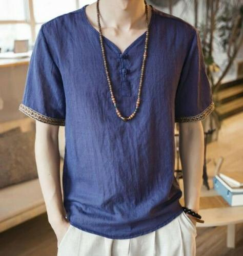neck Ethnic style Casual Tops