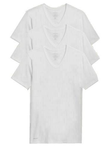 Calvin Men's T Shirts Cotton V-Neck Tees White