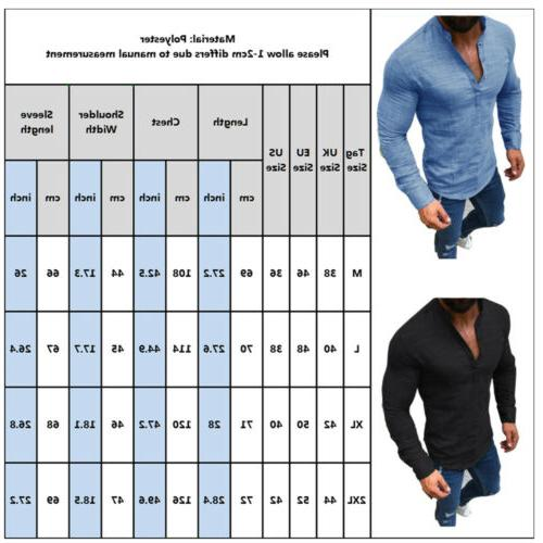 Men's V Neck Sleeve Slim Fit Muscle Tee T-Shirt Blouse Tops