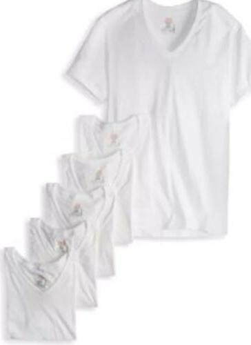 Hanes Mens 6 White V 100% Cotton!!