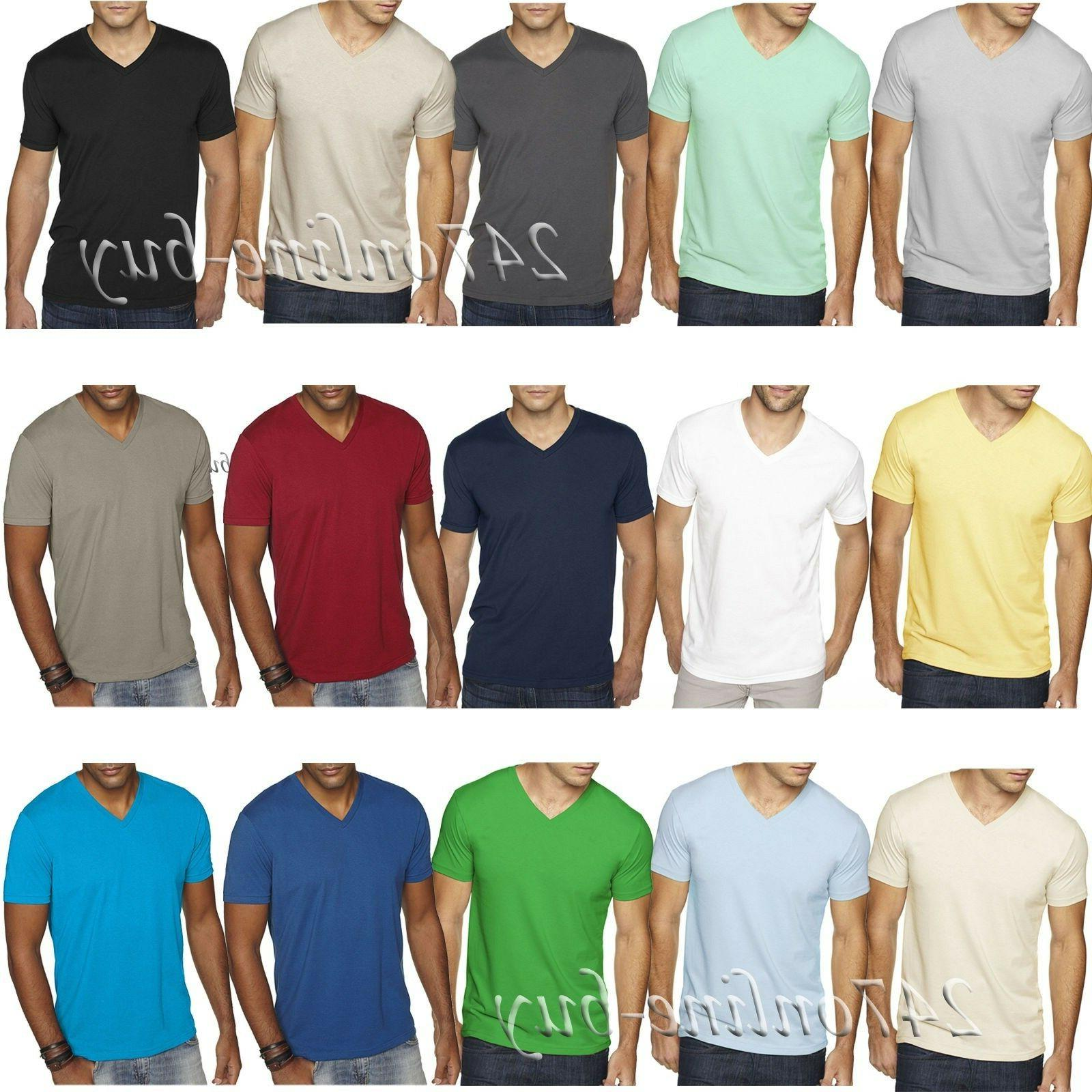mens premium fitted sueded v neck t
