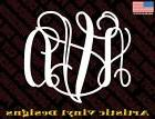Monogram custom vinyl decal sticker for wall car laptop phon