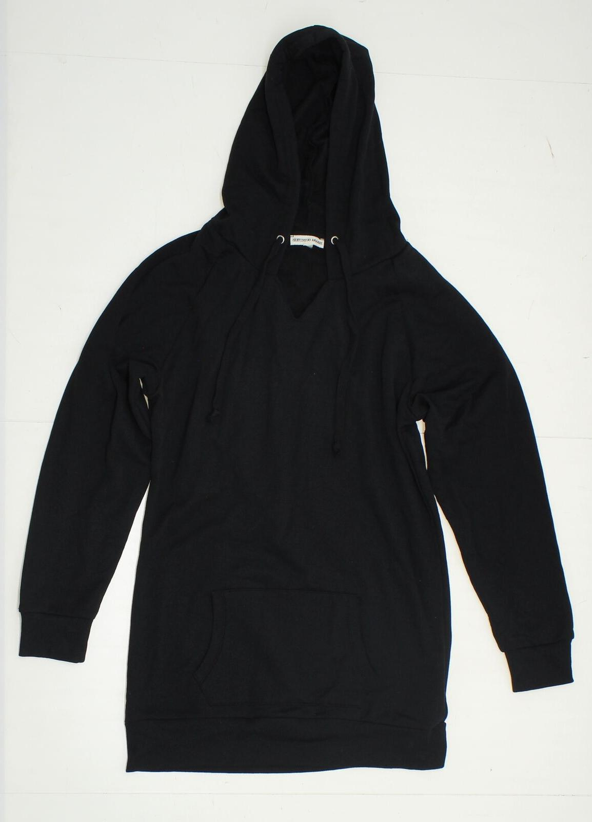 New Cut Tag Sample Zenana Outfitters Ladies V-Neck Hooded Sw