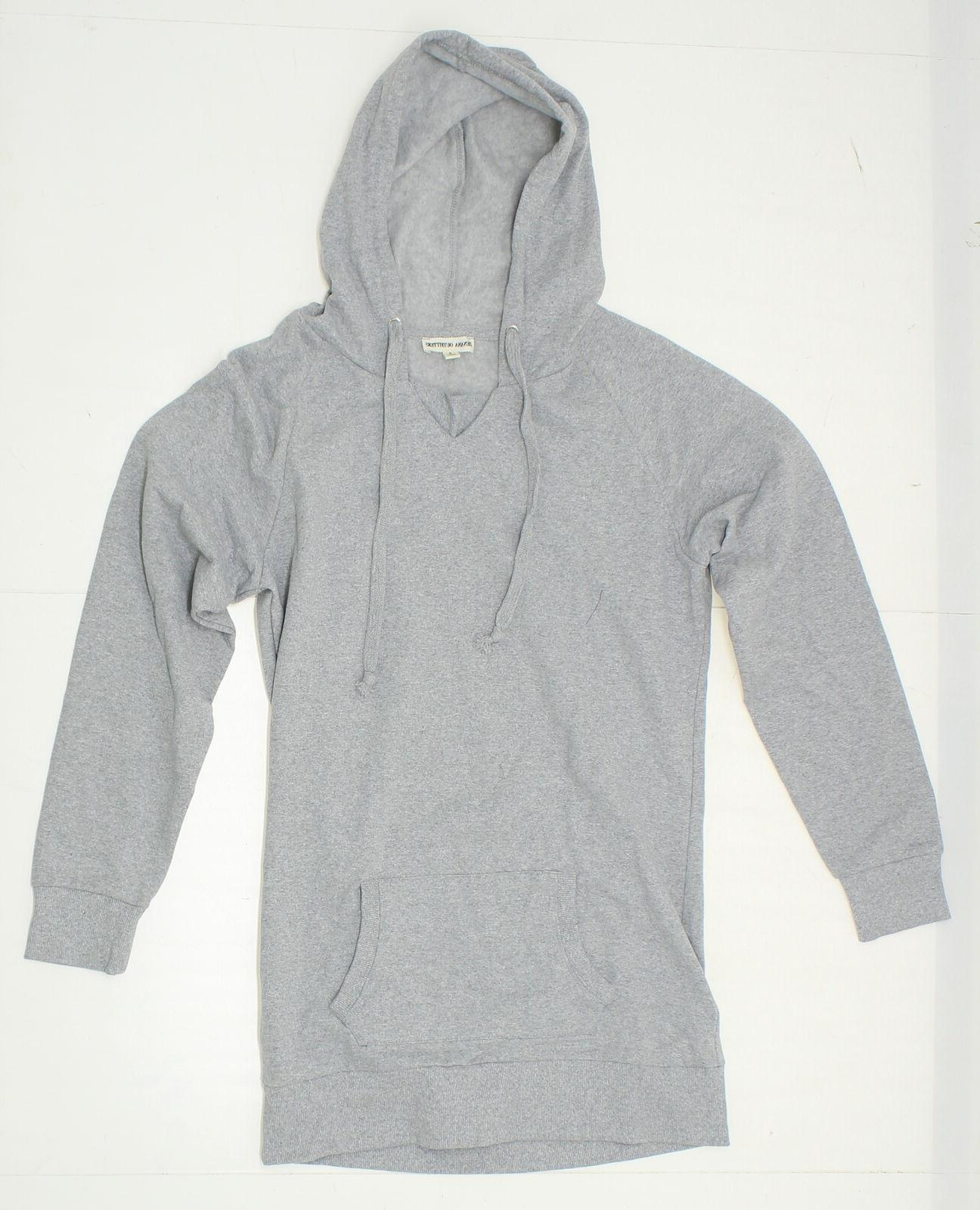 NEW Zenana Outfitters Ladies Long Sleeve V-Neck Hoodie Grey