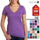 NEW Next Level Ladies' Premium Fit CVC Deep V-Neck S-2XL T-S
