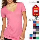 NEW Next Level Ladies Premium Fit Triblend Deep V-Neck T-Shi