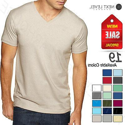 NEW Next Level Men's Premium Fit Sueded V-Neck Sizes S-XL T-