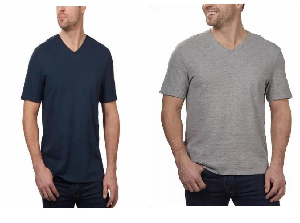 new mens v neck short sleeve tee