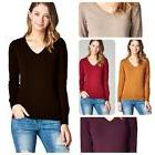 New Women Fashion  Casual V-Neck Long Sleeve Lightweight Swe