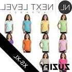 Next Level Girls Adorable CVC V-Neck Tee. 3742