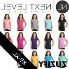 Next Level Girls Adorable V-Neck Tee. 3740