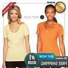 Next Level Women's CVC Deep V-Neck T shirt- top casual NL664
