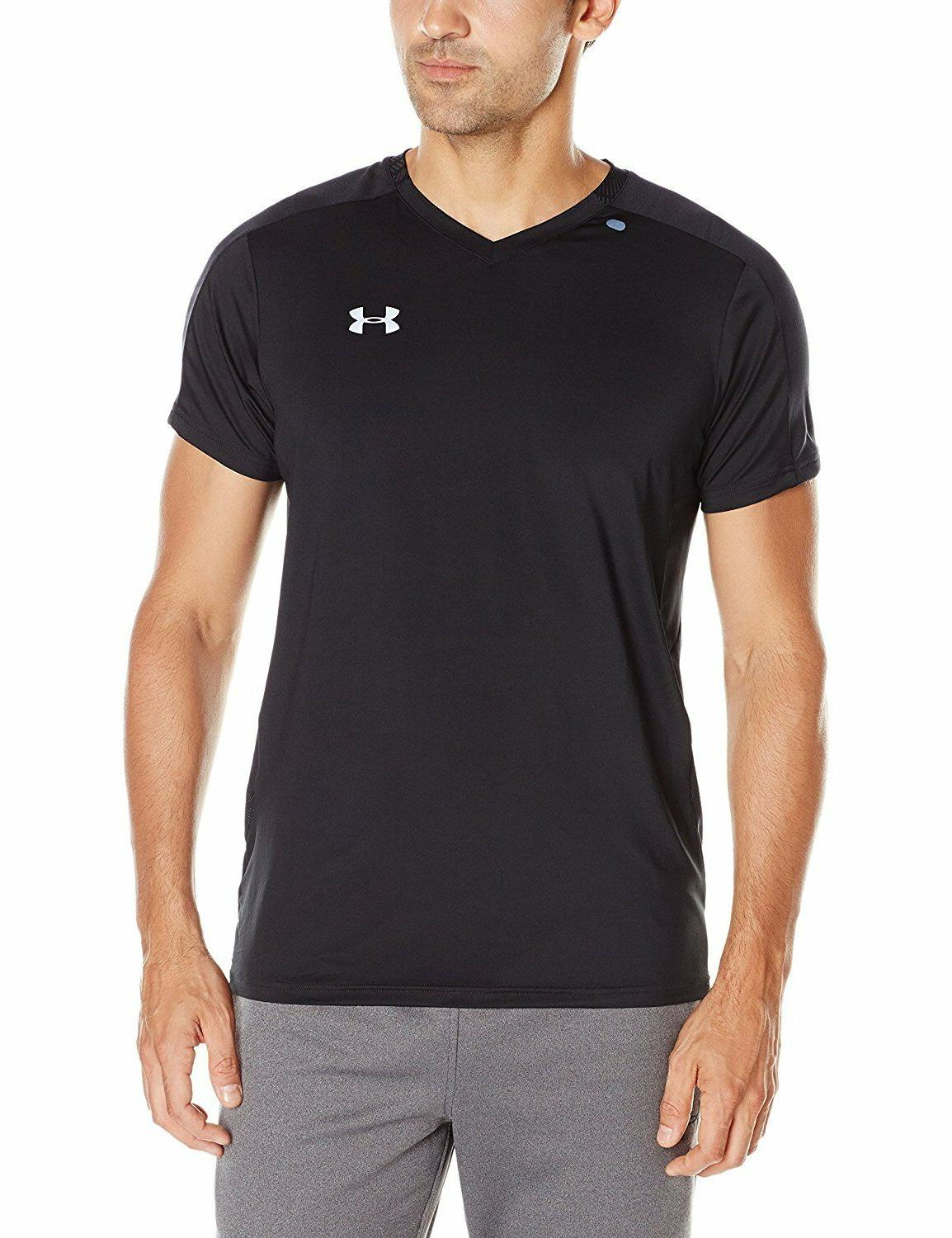 NWT Under Armour CoolSwitch Run V Neck T shirt Fitted Black