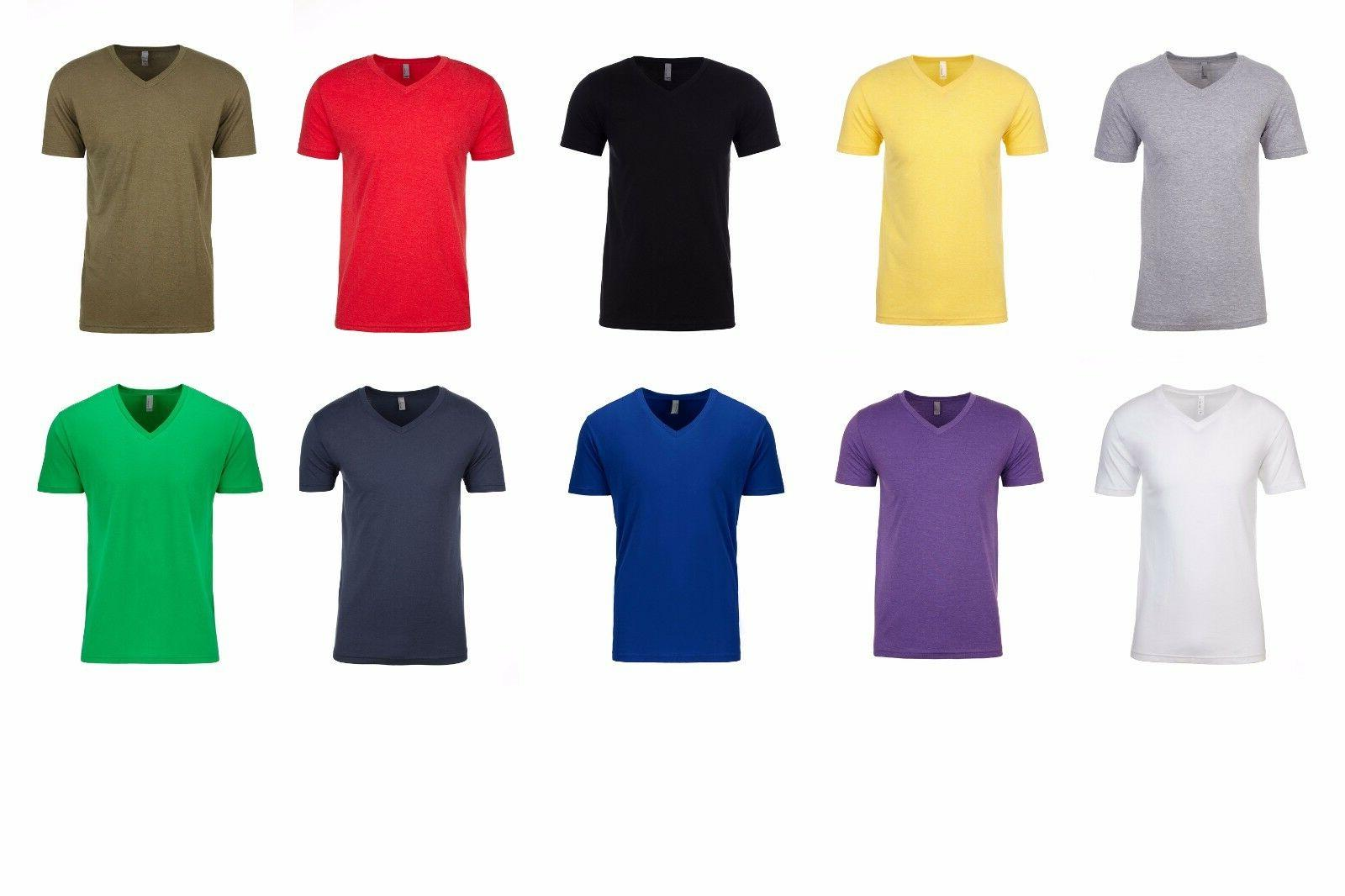 NEXT LEVEL PLAIN ADULT/UNISEX V-NECK T SHIRTS BEST SHIRT BES