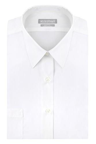poplin fitted solid point collar