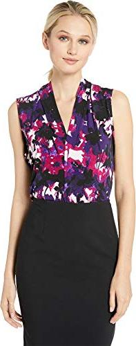 printed v neck cami night