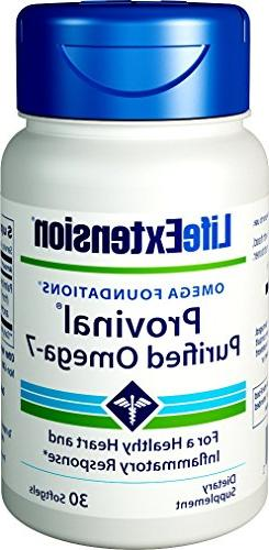 Life Extension Provinal Purified Omega-7, 30 Softgels