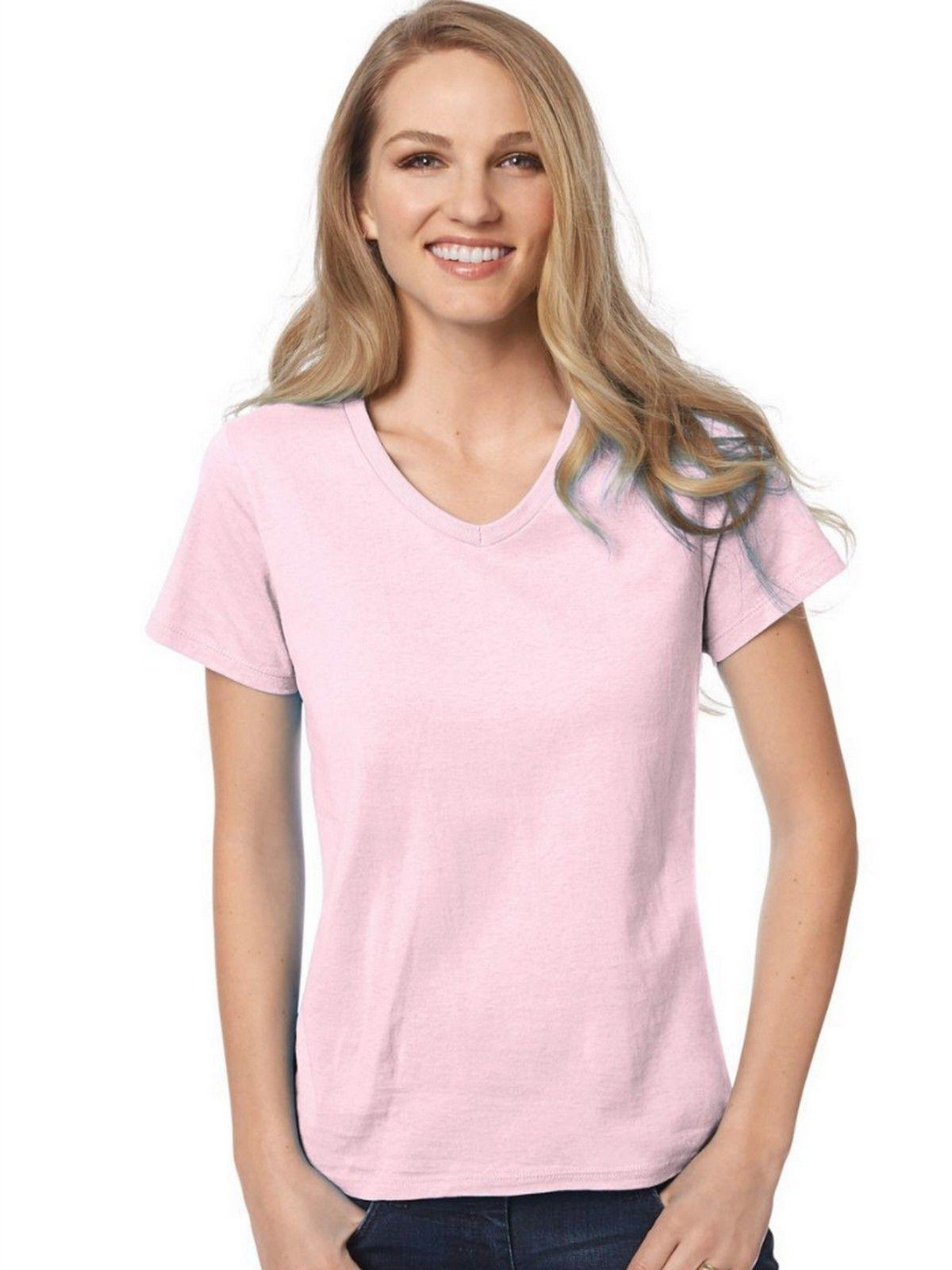 Hanes Relaxed Fit V-neck TWO GET -- 5780