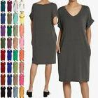 TheMogan S~XL Women's 3/4 Sleeve Ruched V-Neck Bodycon Wrap
