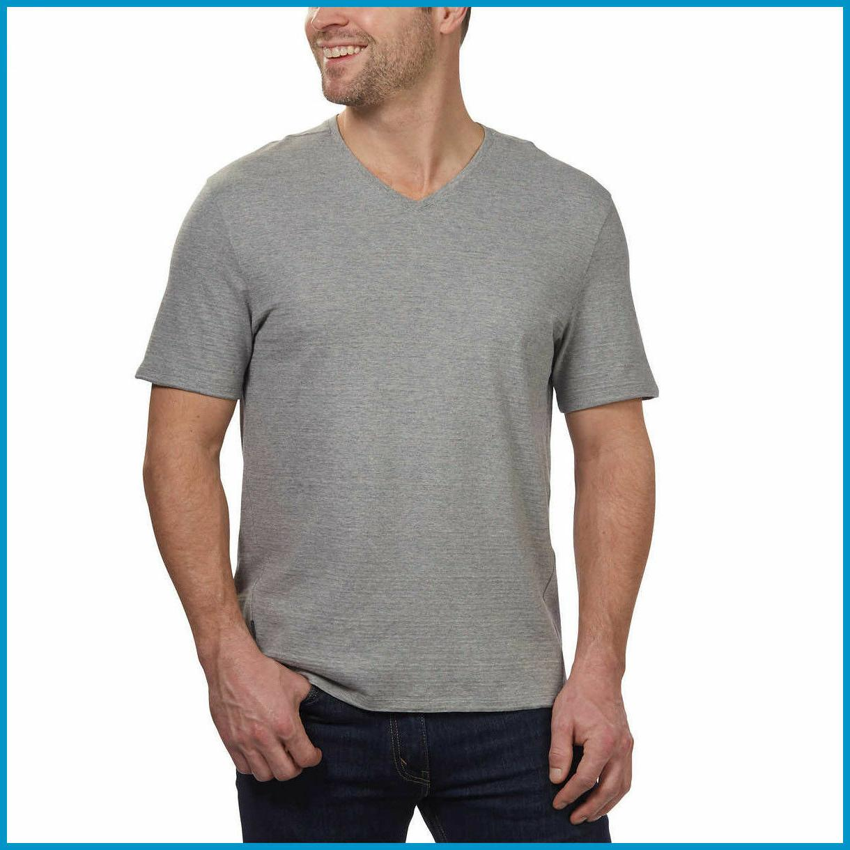 SALE! Calvin Klein Men's Cotton V-Neck Slub T-Shirt Size Color!