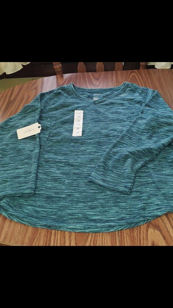 St. Johns Bay NWT green size polyester