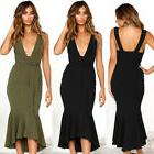 Summer Sexy Women V-Neck Backless Bandage Cocktail Evening P