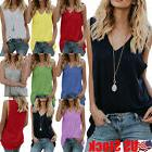Summer Women's Sleeveless V Neck Camisole Vest Loose Tank To