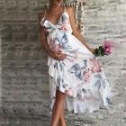 USA Stock Women Maternity Dress Floral Summer Casual Strap V