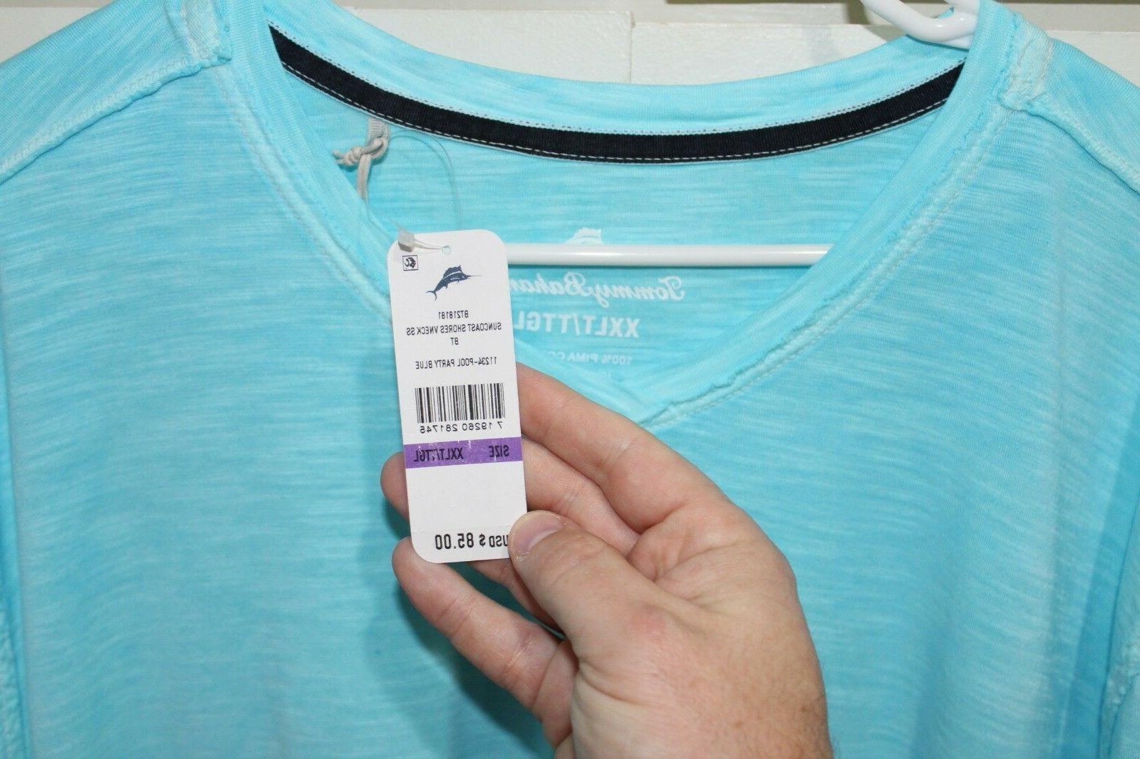 Tommy Bahama V-Neck 2XLT Party Blue $85