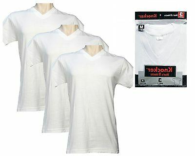 Knocker VTK3501 Mens T-Shirts V-Neck Undershirts Plain Short
