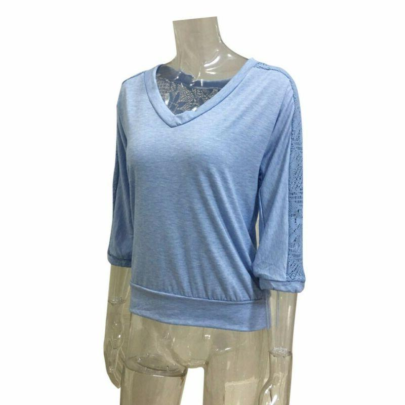 V-Neck Sleeve Casual Blouse