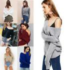 Women Knitted Jumper Sweater Lady Long Sleeve Casual V Neck