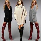 Women Oversized V Neck Long Sleeve Tops Knitted Sweater Loos