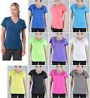 Women's Sport T-Shirt Tee Athletic V Neck Quick Dry Top Gym