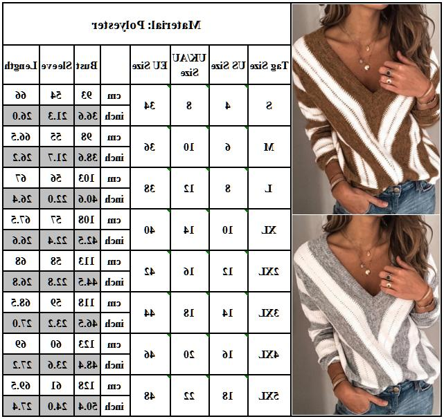 Women V Sweater Casual Pullover Tops