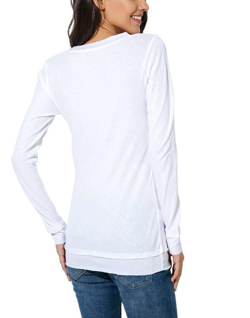 Womens V Neck 100% Cotton Slim Solid