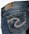 Womens Silver Jeans Mid Rise Aiko Bootcut Stretch Jean 25 26