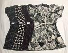 Daisy Fuentes Womens Printed Knot Front V Neck Top Blouse Si