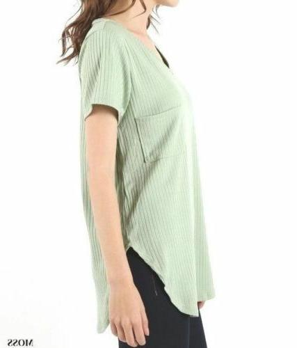 Zenana Ribbed With Scoop