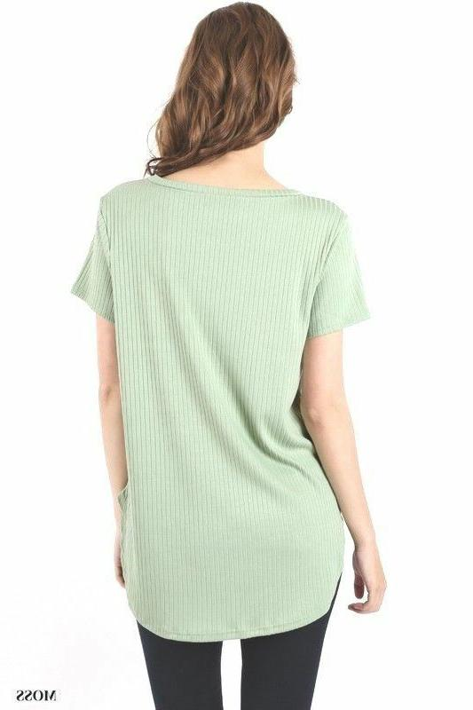 Zenana With Chest Scoop Hem Fit