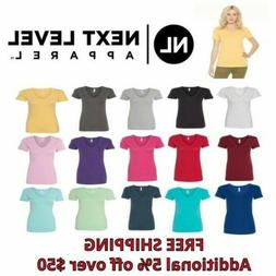 Next Level Ladies Ideal V-Neck Women's T-Shirt N1540 New S-2
