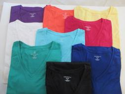 """LANDS' END WOMEN'S 2X, NIP, """"V"""" NECK, SS, COTTON KNIT TEE TO"""